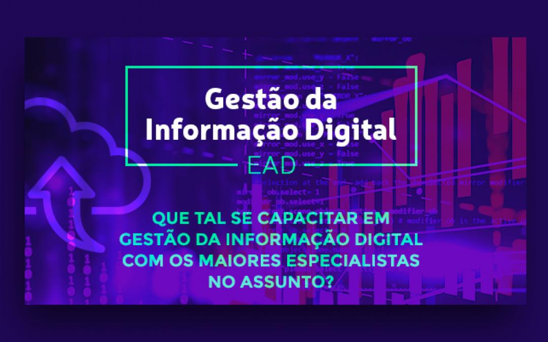 Confira a lista de selecionados para o Curso EAD: Gestão da Informação Digital