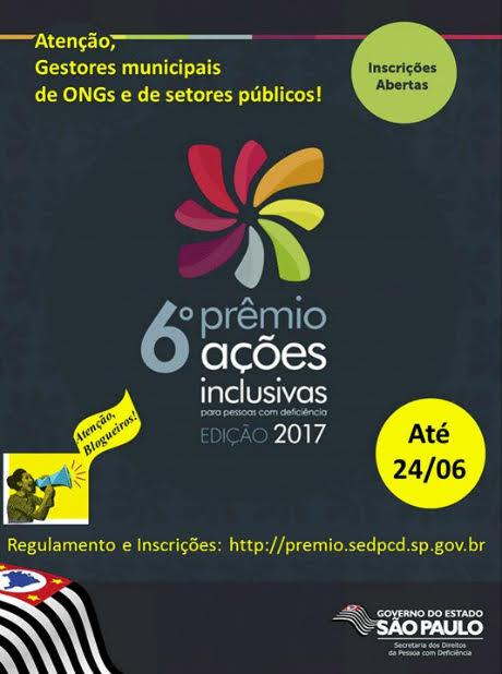 Participe do 6º Prêmio Ações Inclusivas para Pessoas com Deficiência