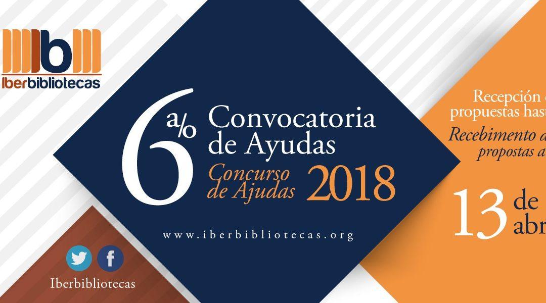 Iberbibliotecas abre as inscrições para o Concurso de Ajudas 2018