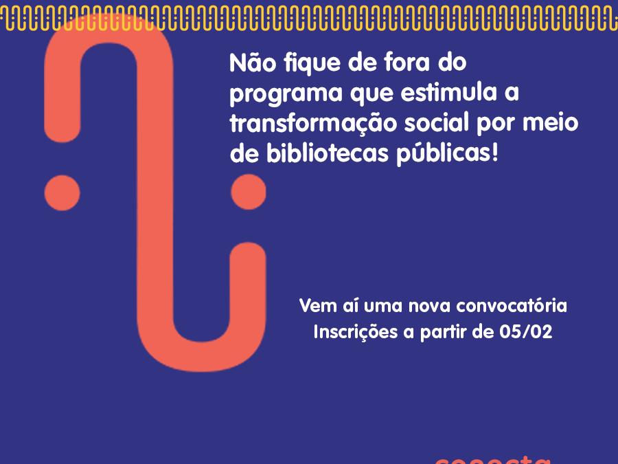 Conecta Biblioteca selecionará 108 bibliotecas em todas as regiões do país.