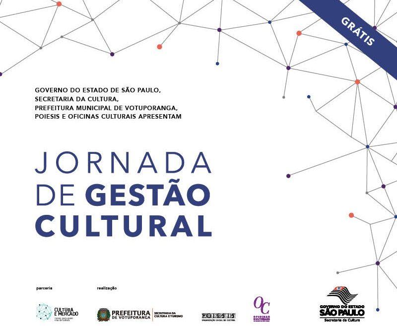 Inscrições abertas para a Jornada de Gestão Cultural