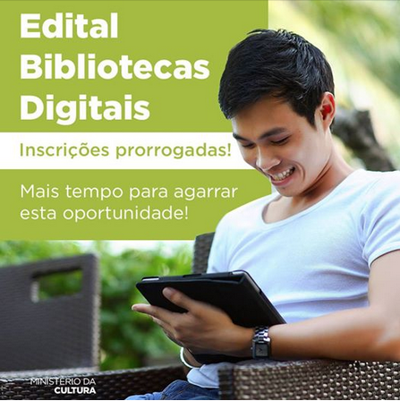 Inscrições prorrogadas para o Edital Bibliotecas Digitais