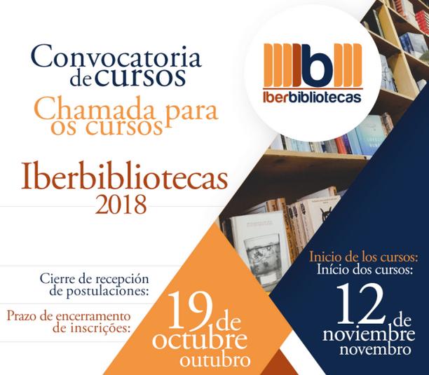Chamada para novos cursos Iberbibliotecas 2018