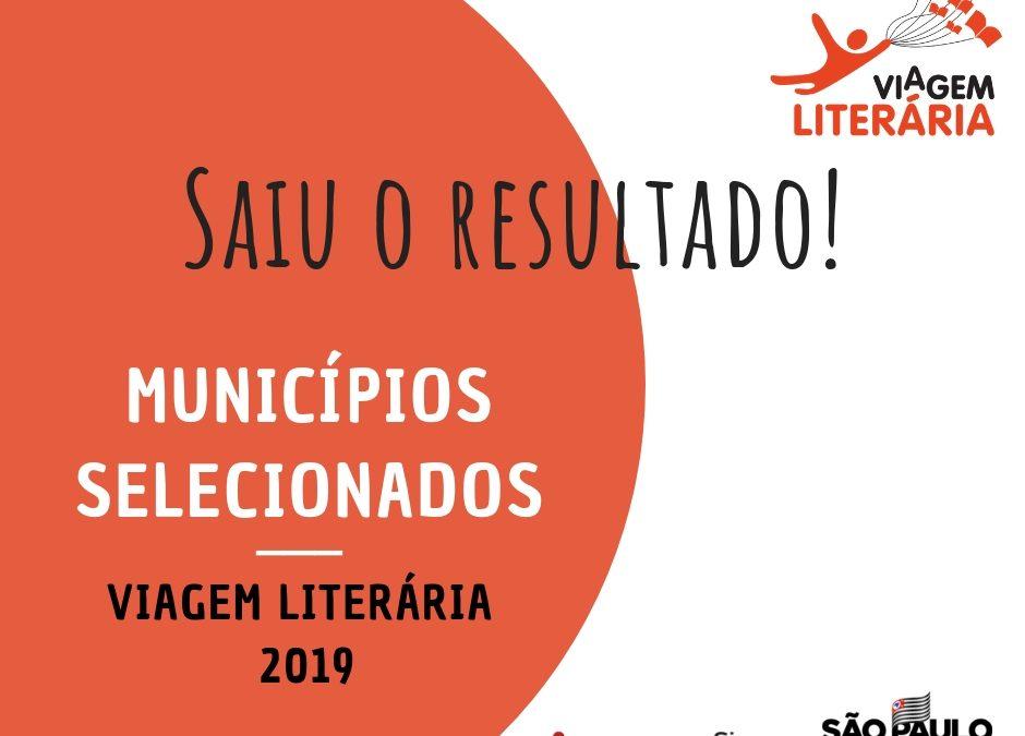Saiu a lista dos municípios selecionados para o programa Viagem Literária