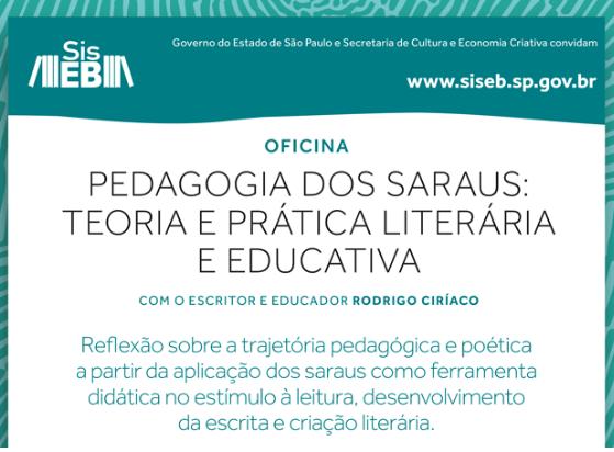 Descubra mais sobre os recursos pedagógicos e poéticos dos saraus