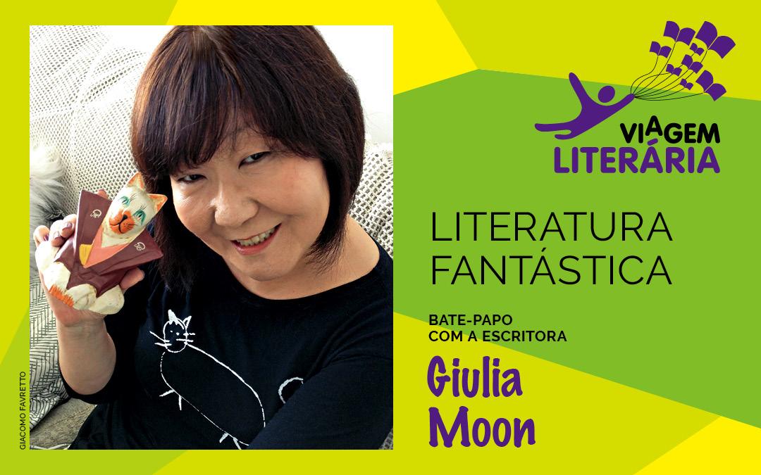 Autora Giulia Moon participa do Viagem Literária no Litoral Sul do estado