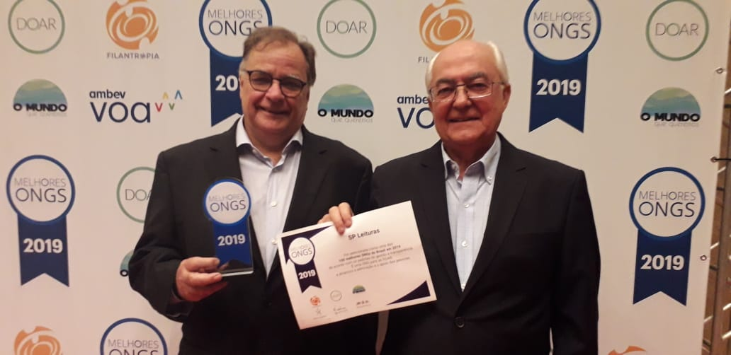 SP Leituras está entre as 100 Melhores ONGs do Brasil pelo segundo ano consecutivo