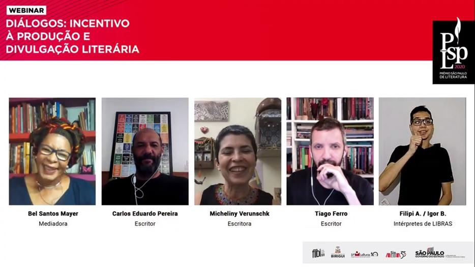 Autores premiados falam sobre suas carreiras e papel de concursos e festivais em webinar