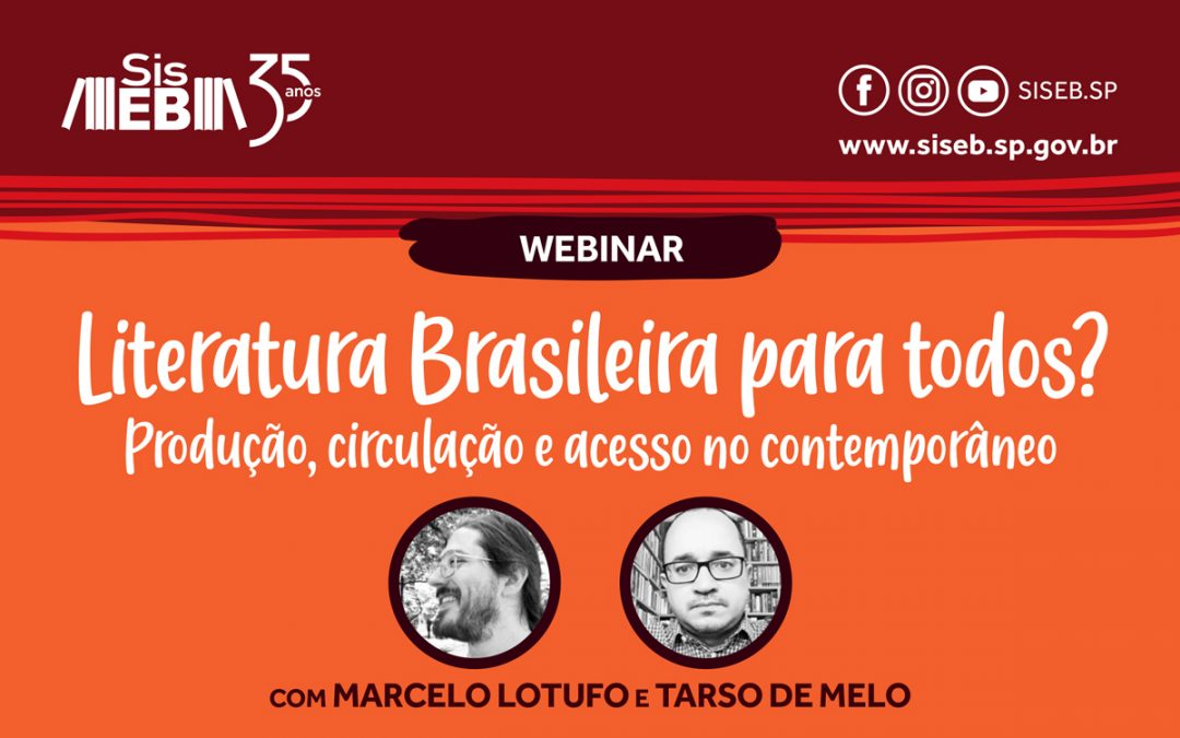Webinar sobre literatura brasileira tem inscrições abertas