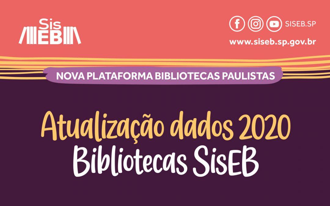 Atualize as informações de 2020 na plataforma Bibliotecas Paulistas