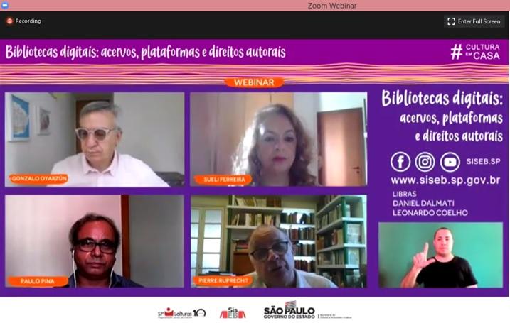 Webinar mostra experiência de bibliotecas com acervos digitais no Brasil e em outros países