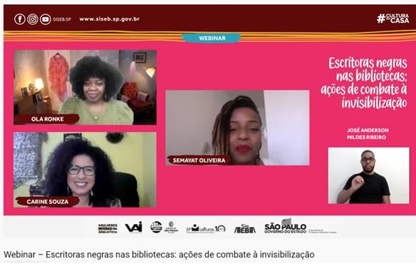 Webinar destaca presença de autoras negras nas bibliotecas