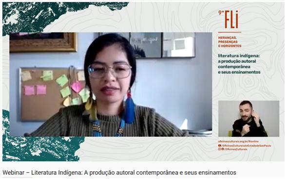 Webinar destaca a presença e a contribuição da literatura indígena no Brasil